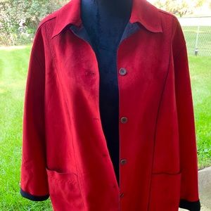 alfred dunner red and black size 18W
